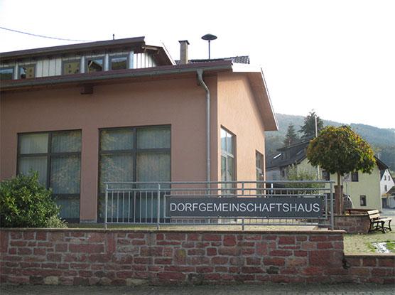 Dorfgemeinschaftshaus Eingang