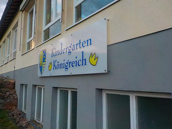 Kindergarten Königreich Gebäude