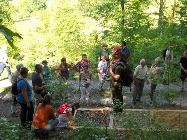 Übergabe des Weilbacher Walderlebnispfades