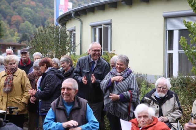Segnung Mariengrotte am AWO Seniorenheim 17.10.2015