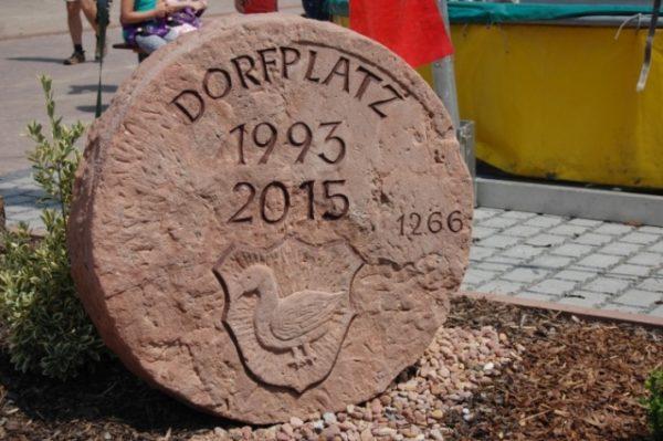 Weckbach Dorfplatzfest Einweihung 14.06.2015