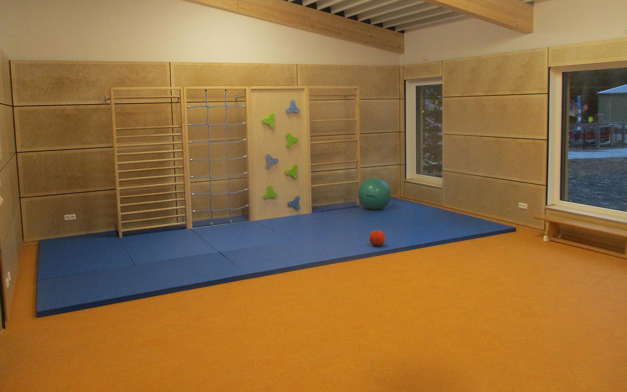 Kindergarten Farbenzauber Turnhalle