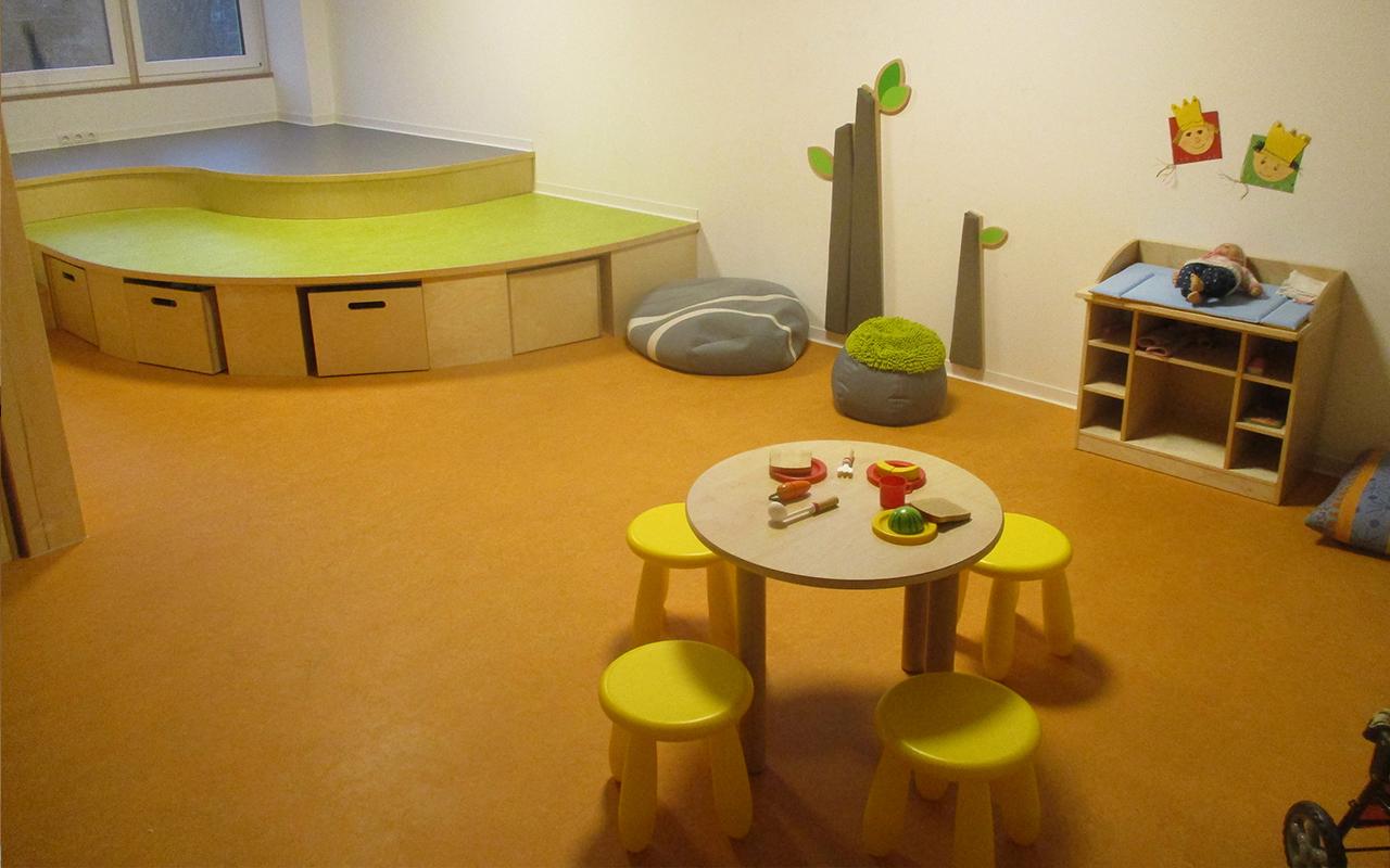 Kindergarten Farbenzauber Aufenthaltsraum