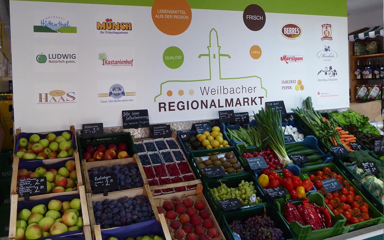 Regionaler Markt Weilbach Obst Gemüse
