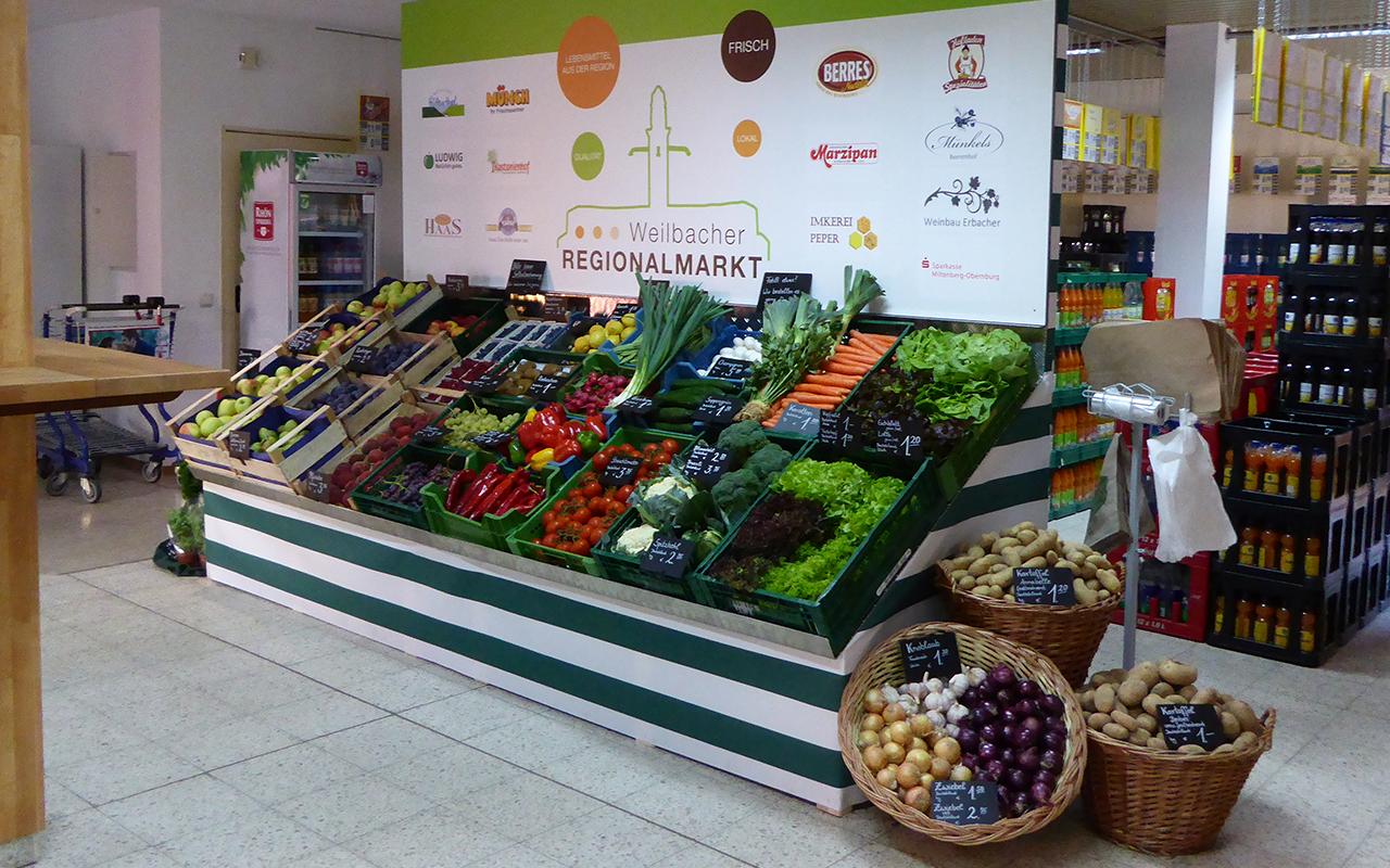 Regionaler Markt Weilbach Sortiment